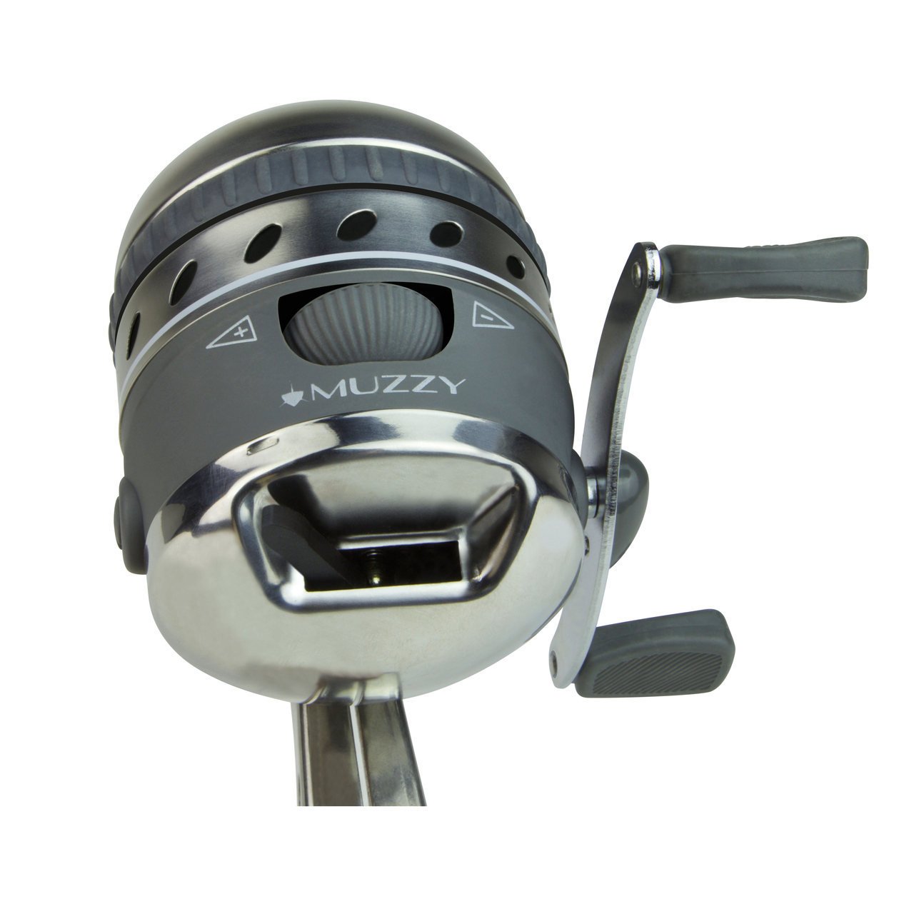 Muzzy xd pro spin style reel diamond archery for Bow fishing reel